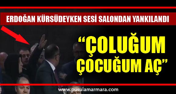 Erdoğan kürsüdeyken salondaki bir vatandaş: Çoluğum çocuğum aç, bana yardım edin - 12 Şubat 2020 14:34