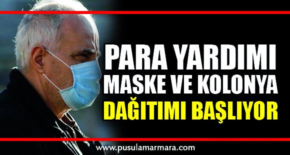 Koronavirüs nedeniyle maske ve kolonya dağıtımı başlıyor! - 20 Mart 2020 17:50