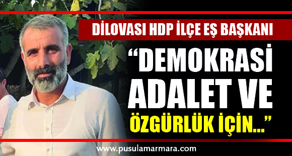 Dilovası HDP İlçe Eş Başkanı - 22 Mart 2020 23:13