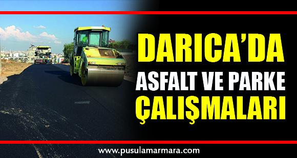 Darıca'da asfalt ve parke çalışmaları