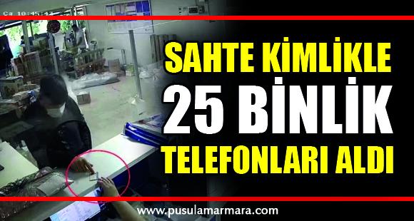 Sahte kimlikle kargo şirketinden başkalarına ait 25 bin TL'lik telefonları aldı - 5 Ekim 2020 21:52