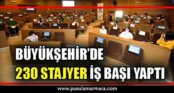 Büyükşehir'de 230 stajyer iş başı yaptı - 2 Ekim 2020 12:09