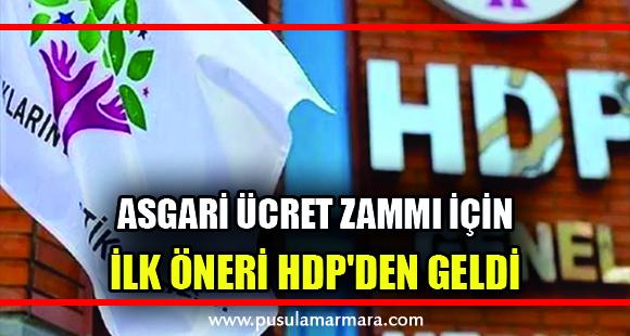 Asgari ücret zammı için ilk öneri HDP'den geldi