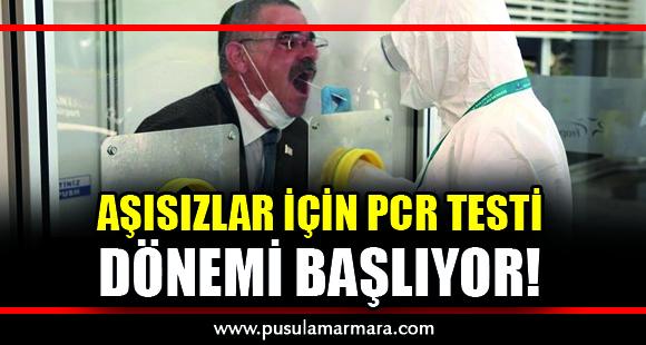 PCR testi nerelerde zorunlu tutulacak? - 20 Ağustos 2021 14:27