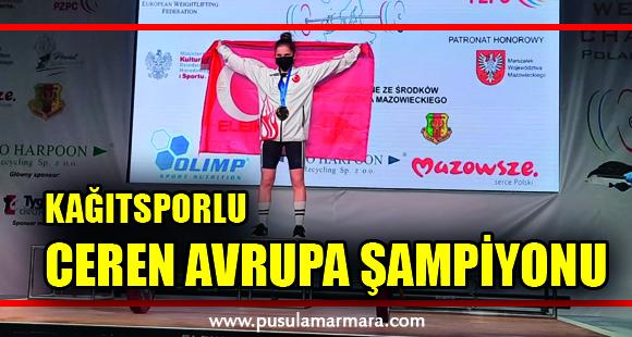 Kağıtsporlu Ceren Avrupa şampiyonu