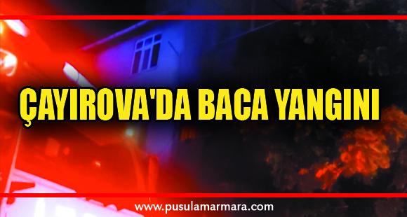 Çayırova'da baca yangını
