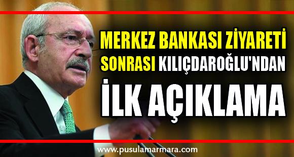 Merkez Bankası ziyareti sonrası Kılıçdaroğlu'ndan ilk açıklama - 15 Ekim 2021 17:38